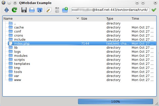 QWebdav - WebDAV lib for Qt4